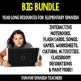 Big Bundle! {Year- Long Resources for Spanish Class}
