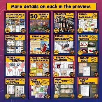 French Lesson Plans, French Activities, French Games, Mega Bundle, Vol. 1