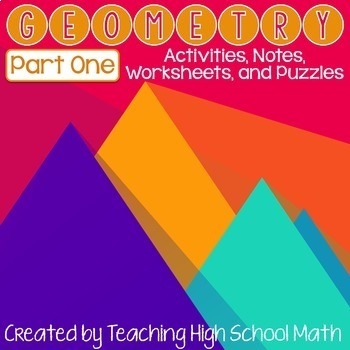 Geometry Items Bundle-Part One (congruent triangles, quadrilaterals, parallel)