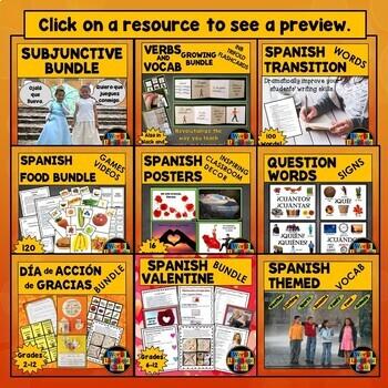 My Spanish Lesson Plans, Activities, Games Mega Bundle, Vol. 1 (2500 Pages)
