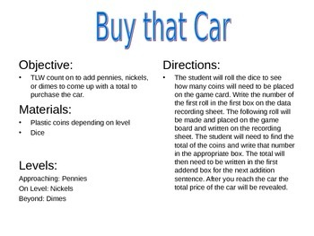 Buy That Car - Money Game