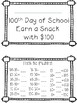 100th Day of School -  Snack Activity