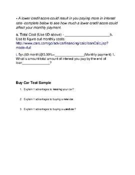Buy a Car Bundled Unit