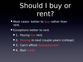 Buy a House PowerPoint