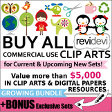 Buy all commercial use CLIP ART Growing Bundle (Lifetime A