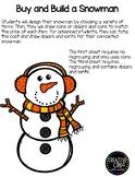 Buy and Build a Snowman Craftivity