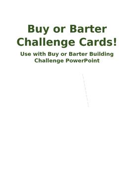 Buy or Barter Challenge Cards