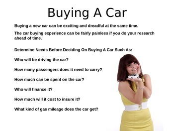 Buying A Car PowerPoint