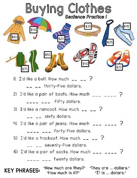 Buying Clothes Sentence Practice (1)