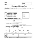 Buying Food - Making Change and Counting Money Assessment (Test)