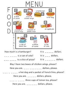 Buying Food Worksheet