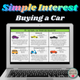 Buying a Car in GOOGLE SLIDES Simple Interest & Balance DI