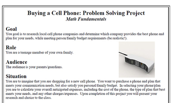 Buying a Cell Phone: Problem Solving Project