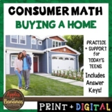 Buying a Home- Consumer Math Unit (Notes, Practice, Test,