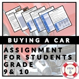 BUYING A CAR ASSIGNMENT - FINANCIAL DECISION MAKING