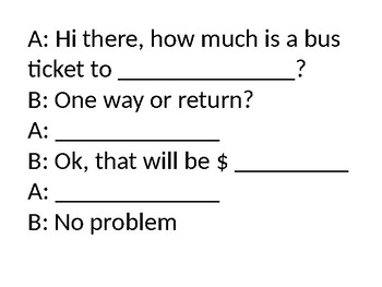 Buying tickets for transportation (prices $) PPT