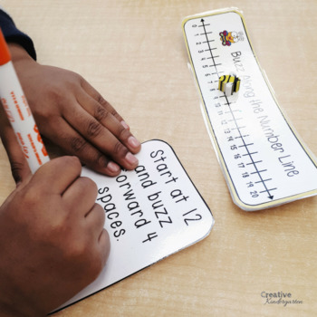 Buzz Along the Number Line! Kindergarten Addition and Subtraction Task Cards