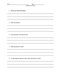 Buzz Boy and Fly Guy comprehension questions