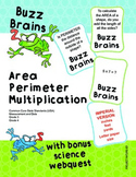 Buzz Brains (Mathematics) Area, Perimeter and Multiplication (Imperial)