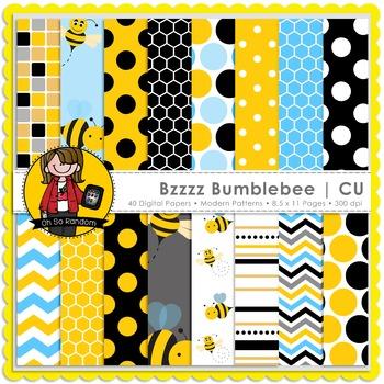 Buzz Bumblebee Digital Papers {CU}