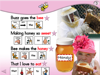 Buzz Goes the Bee - Animated Step-by-Step Poem - PCS