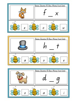 Buzz Missing Vowel Cards – Medial Sounds