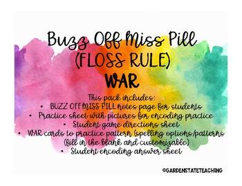 Buzz Off Miss Pill (FLOSS RULE) War Card Game