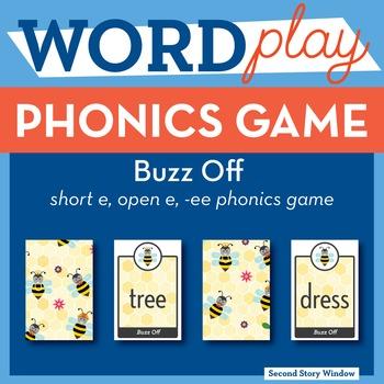 Buzz Off short e, open e, ee Phonics Game