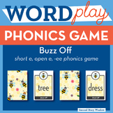 Buzz Off short e, open e, ee Phonics Game - Words Their Way Game