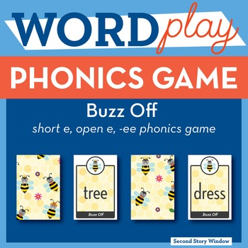 Buzz Off short e, open e, ee Phonics Game