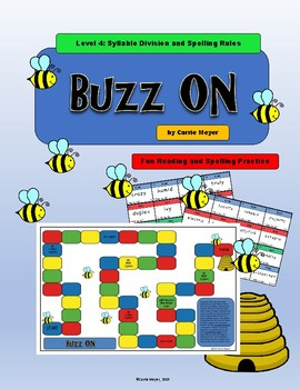 Buzz On Board Game: Level 4 Syllable Division and Spelling Rules