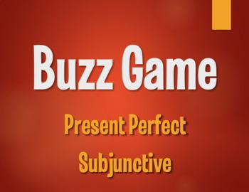 Spanish Present Perfect Subjunctive Buzz Game