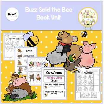 Buzz Said the Bee Book Unit