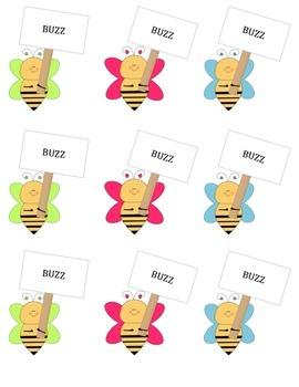 Buzz Sight Words Grade 1
