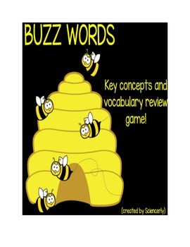 Buzz Words--Review Game using the Flipchart