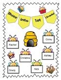 Buzz into 1st Grade Bulletin Board
