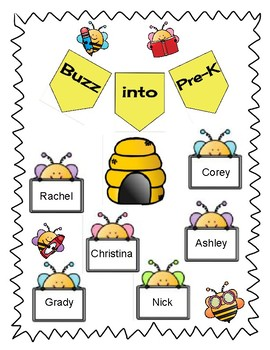 Buzz into Pre-K Bulletin Board