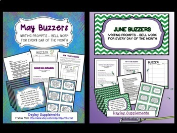 Buzzer Bundle Packet #1 (Bell Work-Journal) January to June