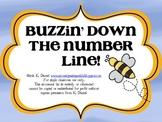 Buzzin' Down the Number Line! {Craftivity, anchor charts, & student sheets}