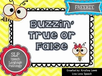 Buzzin' True or False {FREEBIE}