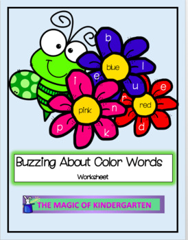 Buzzing About Color Words~Worksheet