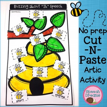 Buzzing About Speech Therapy Articulation Cut and Paste {bees}