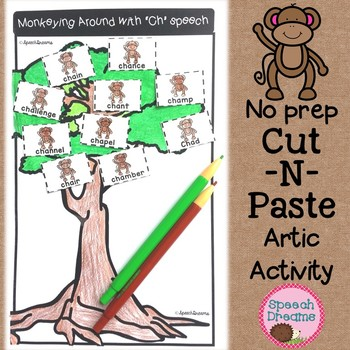 Monkeying Around Speech Therapy Articulation Cut and Paste {monkeys}
