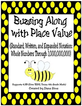 Buzzing Along with Place Value (Through One Billion): 4th Grade Math TEKS