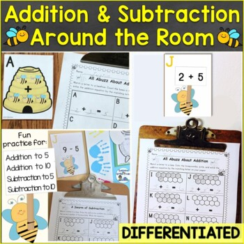 Addition & Subtraction (Differentiated) Around the Room (SCOOT)