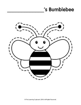 buzzing bee template by the learning cupboard tpt