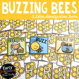 Buzzing Bees--A Letter Identification Card Game with Tracing Recording Sheets