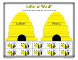Buzzing Bees Letter or Word Sort