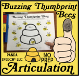 Buzzing Bees Thumbprints A Speech Therapy Craft Activity