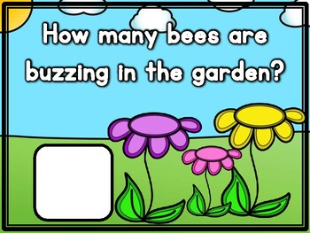 Buzzing Bees in the Garden Counting and Number Correspondence Activity!
